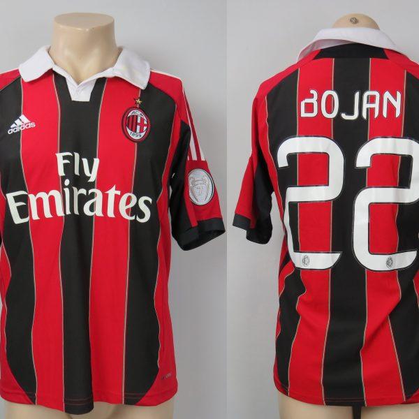 AC Milan 2012-13 Serie A home shirt adidas jersey Bojan 22 size S