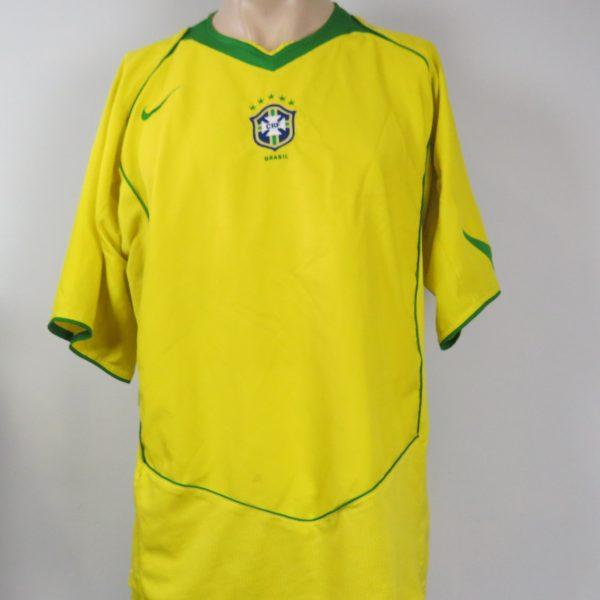Brazil 2004-06 home shirt NIKE Brasil soccer jersey size XL (1)