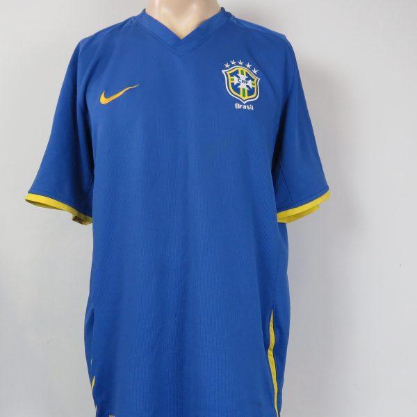 Brazil 2008-10 away shirt NIKE Brasil soccer jersey size XL (1)