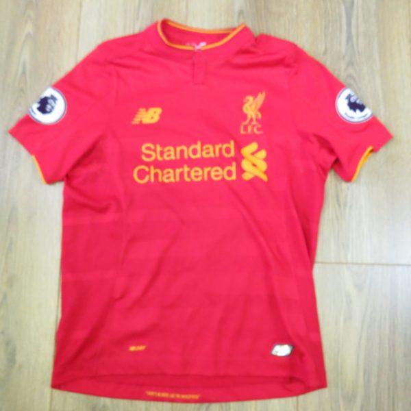 Liverpool 2016-17 EPL home shirt New Balance Coutinho size Boys L (146cm) (1)