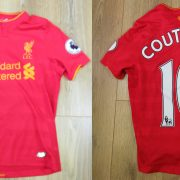 Liverpool 2016-17 EPL home shirt New Balance Coutinho size Boys L (146cm)
