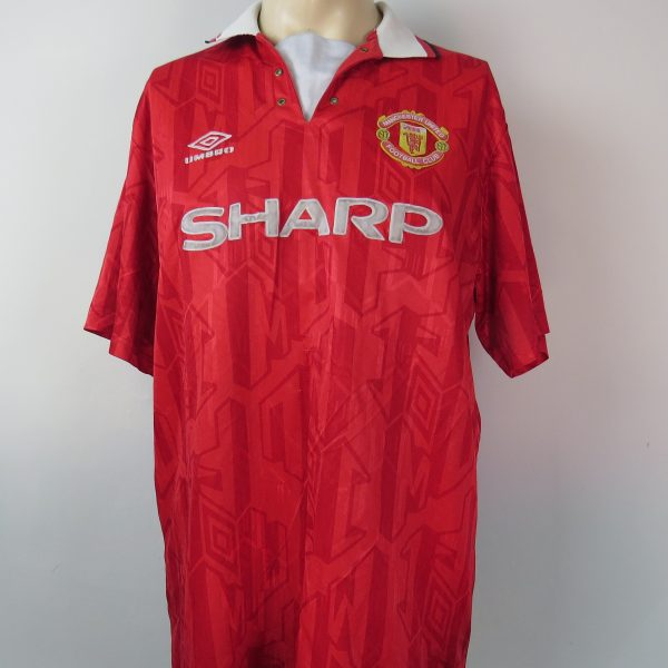Manchester United 1992-94 home shirt Umbro soccer jersey size XL (2)