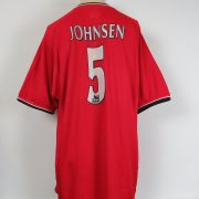 Manchester United 2000-01 home shirt Umbro soccer jersey Johnsen 5 size XL (4)