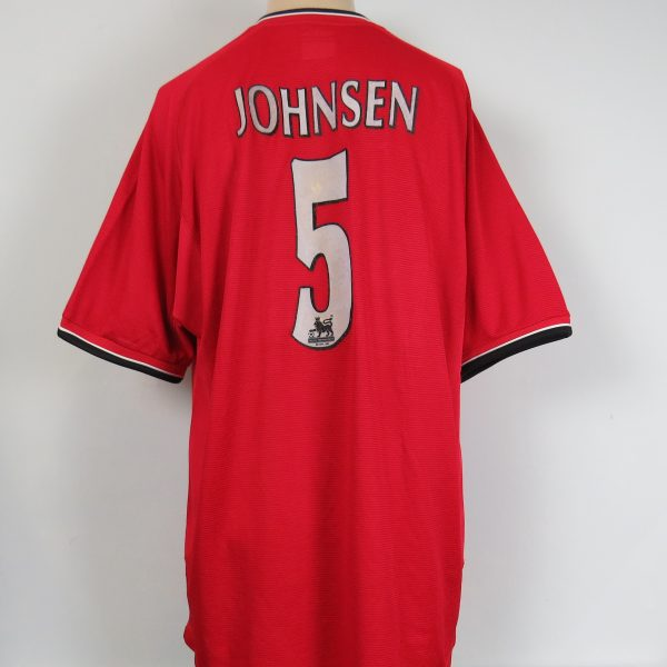 Manchester United 2000-01 home shirt Umbro soccer jersey Johnsen 5 size XL (4)