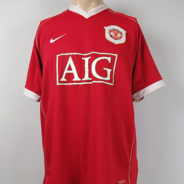 Manchester United 2006-07 home shirt Nike soccer jersey Rooney 8 size L (2)