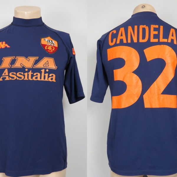 finest selection efc98 b767b AS Roma 2000 2001 third shirt Kappa soccer jersey size Candela 32 size L