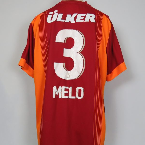 Galatasaray 2014-15 home shirt adidas soccer jersey Melo 3 size XL (1)