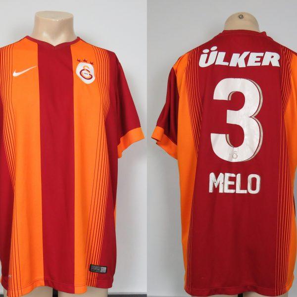 Galatasaray 2014-15 home shirt adidas soccer jersey Melo 3 size XL