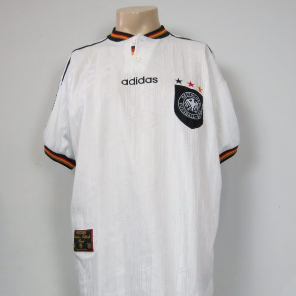 Germany 1996-98 home shirt adidas soccer jersey #8 size XL (EURO 96) (1)