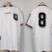 Germany 1996-98 home shirt adidas soccer jersey #8 size XL (EURO 96)