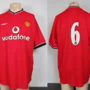 Manchester United 2000-02 home shirt soccer jersey #6 size L (1)