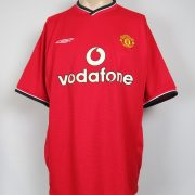 Manchester United 2000-02 home shirt soccer jersey #6 size L (2)