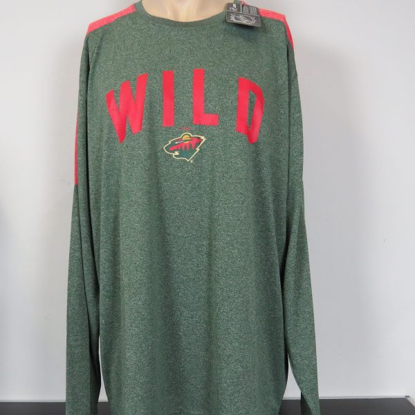 Minesota Wild NHL green grey sweater official merchandise size XXL BNWT (1)