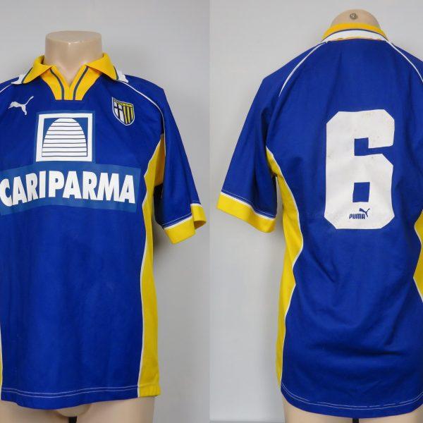 PARMA AC 1997-98 away shirt Puma soccer jersey 6 size S