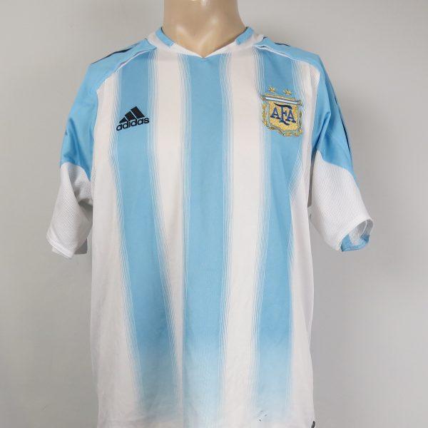 Argentina 2004-05 home shirt adidas soccer jersey size M (1)