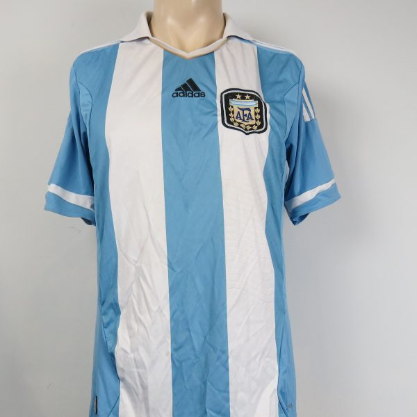 Argentina 2011-13 home shirt adidas soccer jersey size M (1)