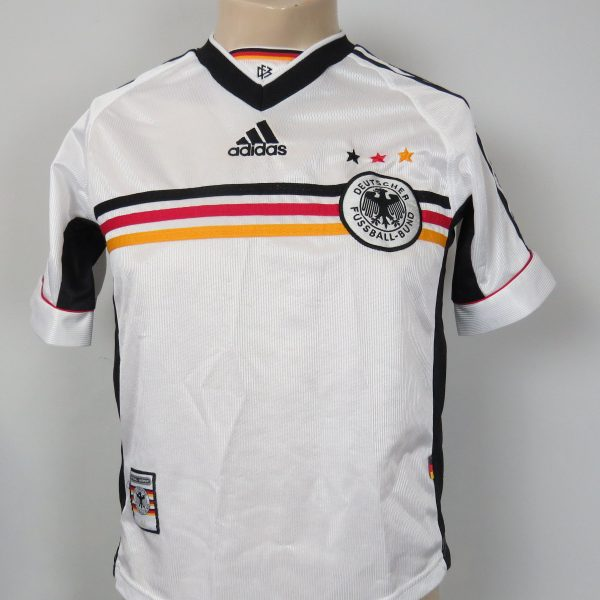 1fa95ce61d0 Germany 1998-00 home shirt adidas soccer jersey size 164cm 14Y World Cup 98  (