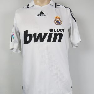52fbfe99af7 Real Madrid 2008-09 LFP home shirt adidas soccer jersey size S