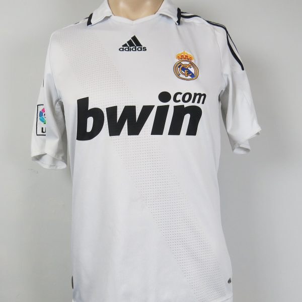 Real Madrid 2008-09 LFP home shirt adidas soccer jersey size S (1)