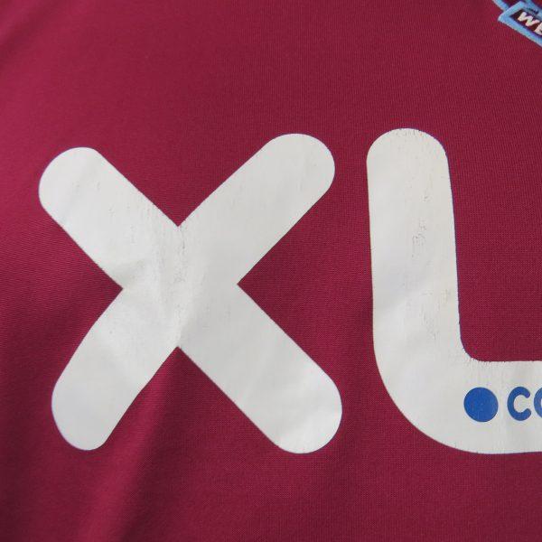 West Ham United 2007-08 home shirt Umbro jersey size S (2)