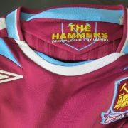 West Ham United 2007-08 home shirt Umbro jersey size S (4)
