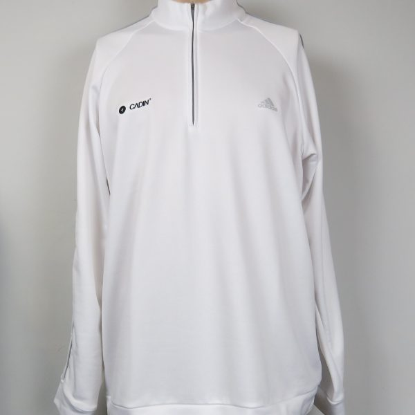 adidas Mens ClimaLite 14 Zip Contrast Pullover 2014 white size XL (1)
