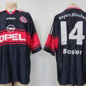 huge selection of f8390 08640 Bayern Munchen 1997-99 home shirt adidas Basler  14 jersey size XL