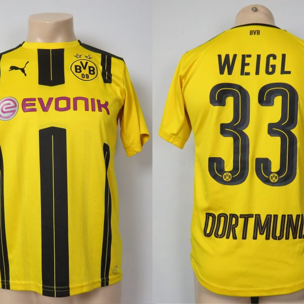 Borussia Dortmund 2016-17 home shirt Puma trikot Weigl 33 176cm 15-16Y