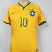 Brazil 2014-15 Nike Authentic home shirt soccer jersey Neymar Jr 10 size S (1)