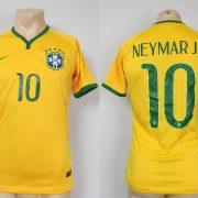 Brazil 2014-15 Nike Authentic home shirt soccer jersey Neymar Jr 10 size S