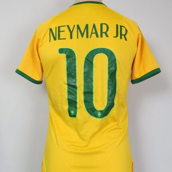 Brazil 2014-15 Nike Authentic home shirt soccer jersey Neymar Jr 10 size S (2)