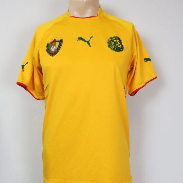 4c5aa6d6cfd Cameroon 2004-06 away shirt Puma soccer jersey size M – Football ...
