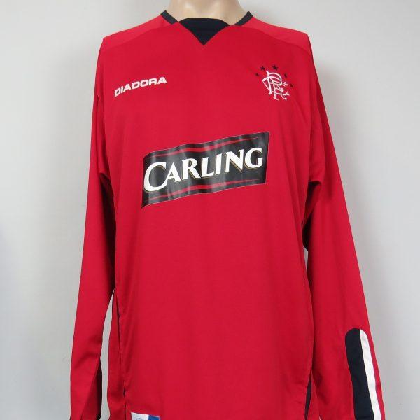 Glasgow Rangers LS 2004-05 third shirt Diadora soccer jersey size L (1)