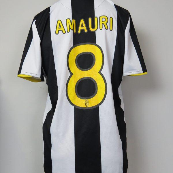 Juventus 2008-09 home shirt Nike soccer jersey Amauri 8 size M (3)