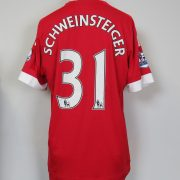 Manchester United 2015-16 home shirt adidas soccer Schweinsteiger 31 size L (1)