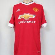 Manchester United 2015-16 home shirt adidas soccer Schweinsteiger 31 size L (2)
