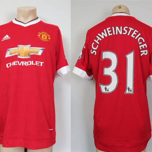 Manchester United 2015-16 home shirt adidas soccer Schweinsteiger 31 size L