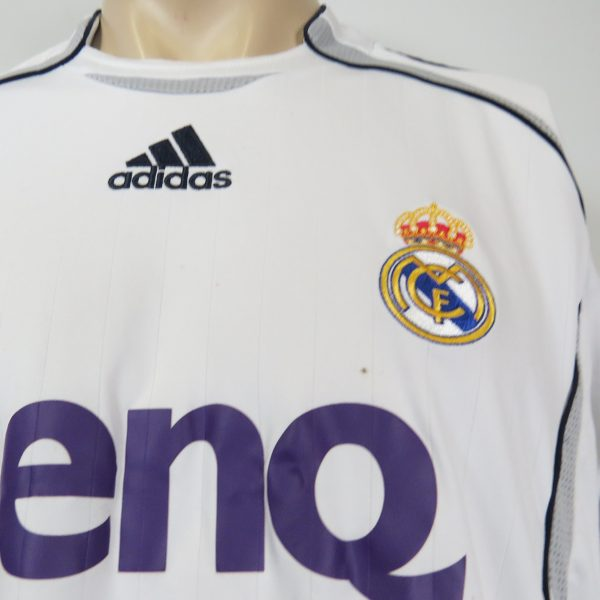 Real Madrid 2006-07 LFP home shirt adidas soccer jersey size L (5)