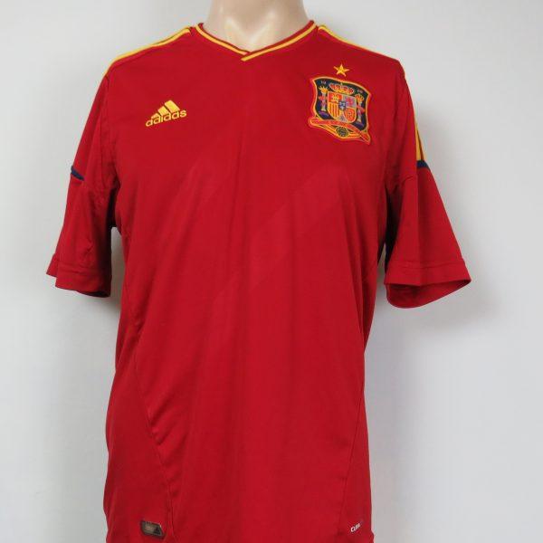 Spain 2011-12 home shirt adidas soccer jersey camiseta size L EURO2012 (1)