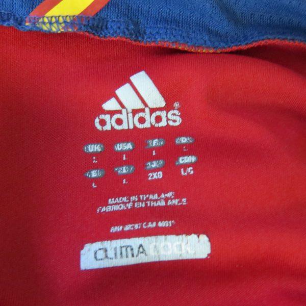 Spain 2011-12 home shirt adidas soccer jersey camiseta size L EURO2012 (3)