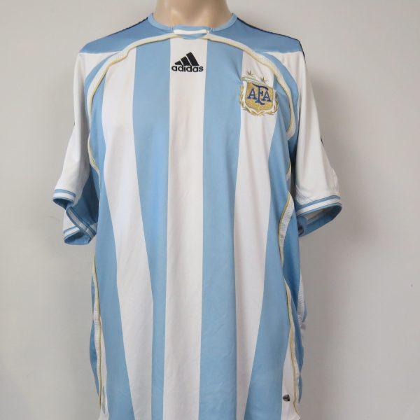 Argentina 2005-07 home shirt adidas soccer jersey size L (World Cup 2006) (1)