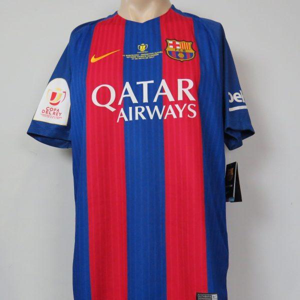 Barcelona 2017 Copa Del Rey Final shirt Nike soccer jersey size L BNWT (1)