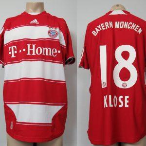 separation shoes c12d9 a227f Bayern Munchen 2007-09 home shirt adidas soccer jersey Klose 18 size L