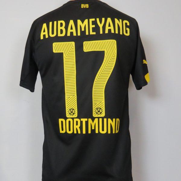 Borussia Dortmund 2014-16 away shirt Puma trikot Aubameyang 17 S (2)