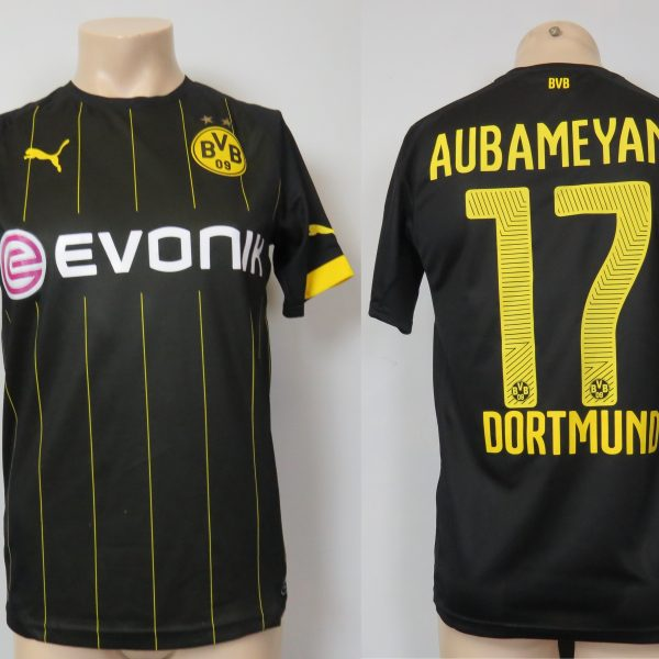 Borussia Dortmund 2014-16 away shirt Puma trikot Aubameyang 17 S