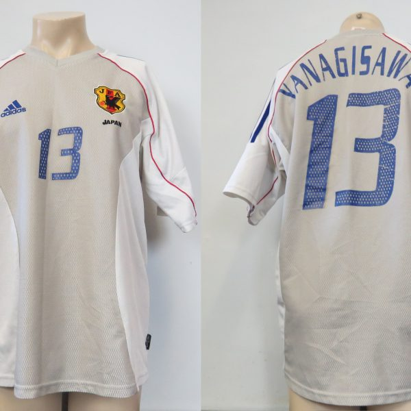 Japan 2002-04 away shirt adidas size L Yanagisawa 13 (World Cup 2002) (1)