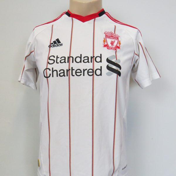Liverpool 2010-11 away shirt adidas soccer jersey size Boys L 152cm (1)