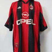 AC Milan 1998-00 home shirt adidas soccer jersey size XL (1)