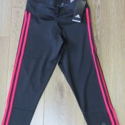 Adidas black pink women's tight 34 leggings Yoga Sports size S BNWT (1)