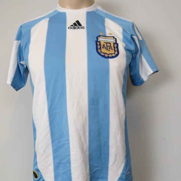 Argentina 2010-11 home shirt adidas jersey size Boys L 14Y 164cm (1)
